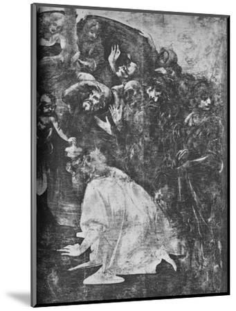 'Adoration of the Magi - Right-hand lower portion', c1481 (1945)-Leonardo da Vinci-Mounted Giclee Print