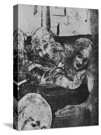 'Adoration of the Magi - Angels behind the Virgin', c1481 (1945)-Leonardo da Vinci-Stretched Canvas Print