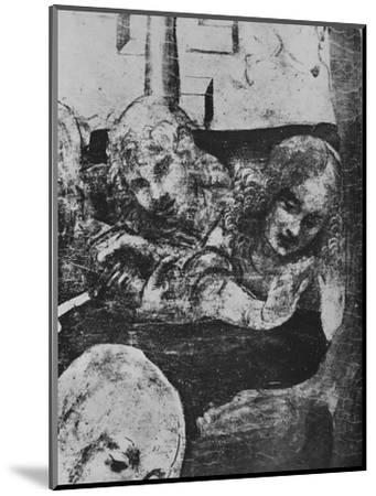 'Adoration of the Magi - Angels behind the Virgin', c1481 (1945)-Leonardo da Vinci-Mounted Giclee Print