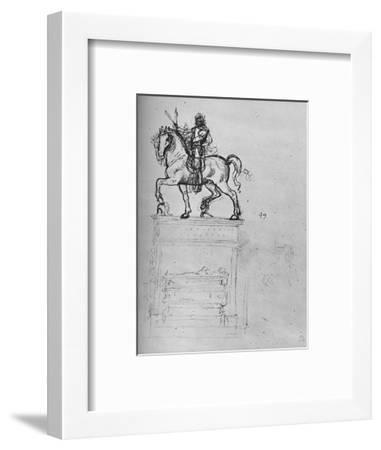 'Study for an Equestrian Monument', c1480 (1945)-Leonardo da Vinci-Framed Giclee Print