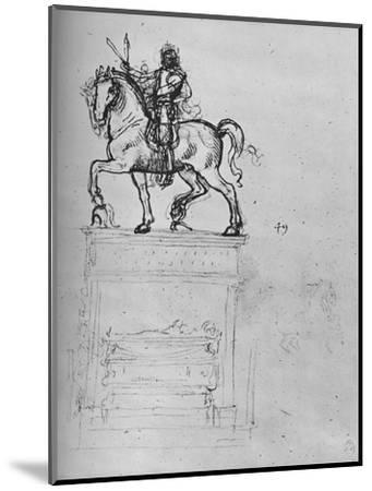 'Study for an Equestrian Monument', c1480 (1945)-Leonardo da Vinci-Mounted Giclee Print