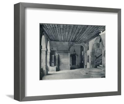 'Cloister Pump and Hall Steps', 1926-Unknown-Framed Photographic Print