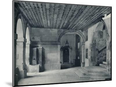 'Cloister Pump and Hall Steps', 1926-Unknown-Mounted Photographic Print