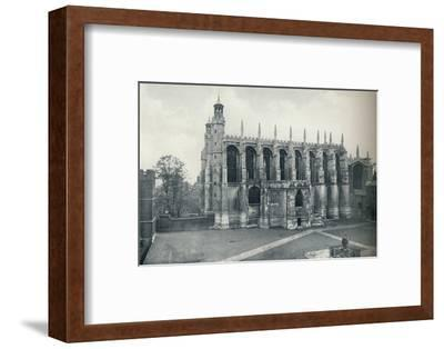 'The Chapel, from the Roof of Long Chamber', 1926-Unknown-Framed Photographic Print