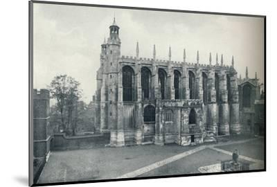 'The Chapel, from the Roof of Long Chamber', 1926-Unknown-Mounted Photographic Print