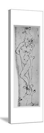 'Study for a St. Sebastian', c1480 (1945)-Leonardo da Vinci-Stretched Canvas Print