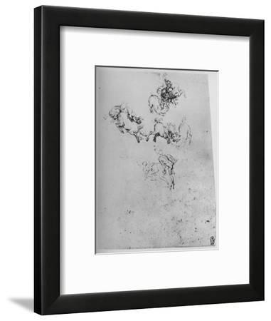'Horses and Horsemen in Combat', c1480 (1945)-Leonardo da Vinci-Framed Giclee Print
