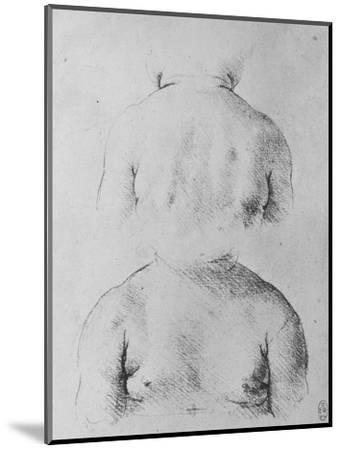 'The Bust of an Infant, Front and Back Views', c1480 (1945)-Leonardo da Vinci-Mounted Giclee Print