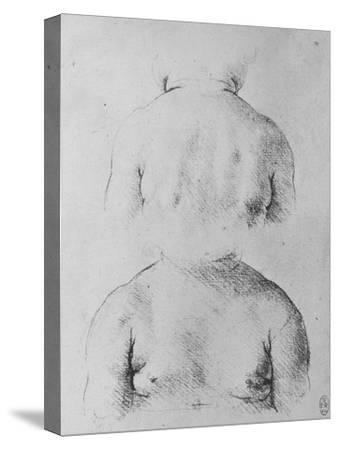 'The Bust of an Infant, Front and Back Views', c1480 (1945)-Leonardo da Vinci-Stretched Canvas Print