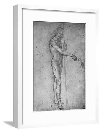 'Study for a Youthful St. John the Baptist', c1480 (1945)-Leonardo da Vinci-Framed Giclee Print