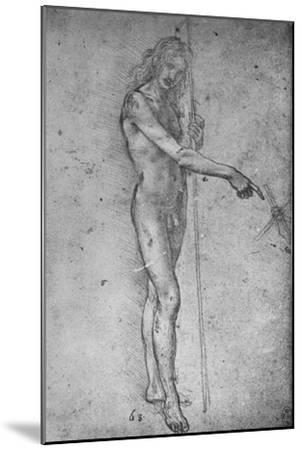 'Study for a Youthful St. John the Baptist', c1480 (1945)-Leonardo da Vinci-Mounted Giclee Print