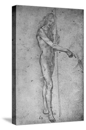 'Study for a Youthful St. John the Baptist', c1480 (1945)-Leonardo da Vinci-Stretched Canvas Print