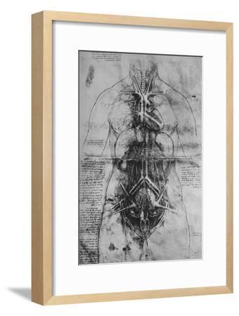 'Dissection of the Principal Organs of a Woman', c1480 (1945)-Leonardo da Vinci-Framed Giclee Print
