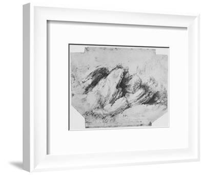 'Study of Rock Formations', c1480 (1945)-Leonardo da Vinci-Framed Giclee Print