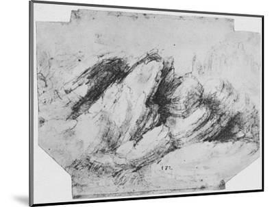 'Study of Rock Formations', c1480 (1945)-Leonardo da Vinci-Mounted Giclee Print