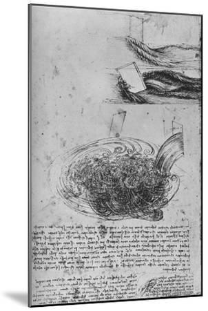 'Studies of Water Formations', c1480 (1945)-Leonardo da Vinci-Mounted Giclee Print
