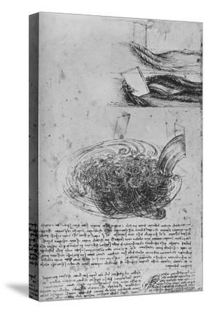 'Studies of Water Formations', c1480 (1945)-Leonardo da Vinci-Stretched Canvas Print