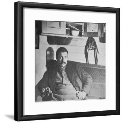 'Dr. Blessing in his Cabin', 1893-1896, (1897)-Unknown-Framed Photographic Print