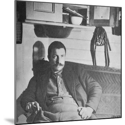 'Dr. Blessing in his Cabin', 1893-1896, (1897)-Unknown-Mounted Photographic Print