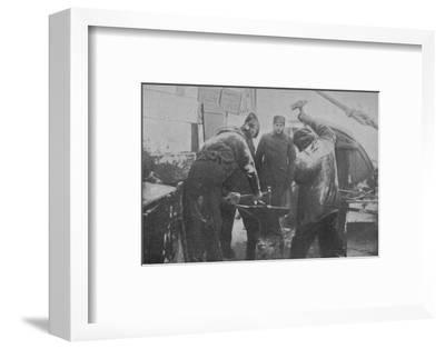 'The Smithy on Board the Fram', 1897-Unknown-Framed Photographic Print