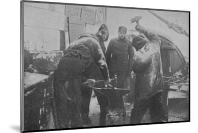 'The Smithy on Board the Fram', 1897-Unknown-Mounted Photographic Print
