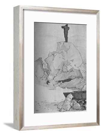 'Nothing But Ice, Ice to the Horizon, 7 April, 1895', (1897)-Unknown-Framed Giclee Print