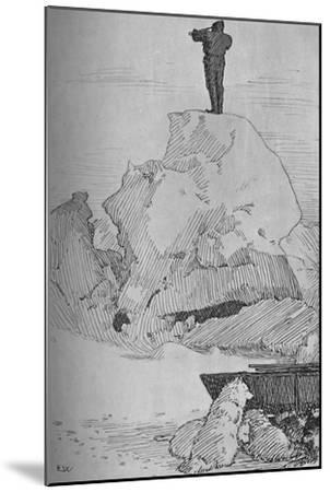 'Nothing But Ice, Ice to the Horizon, 7 April, 1895', (1897)-Unknown-Mounted Giclee Print