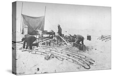 'Fitting the Hand-Sledges with Runners. July, 1895', (1897)-Unknown-Stretched Canvas Print