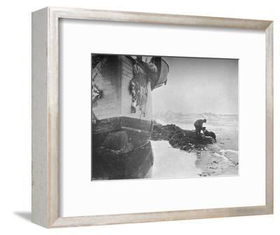 'The Stern of the Fram. Johansen and 'Sultan' ,16 June, 1894', (1897)-Unknown-Framed Photographic Print