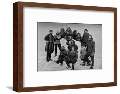 'The Crew of the Fram after their Second Winter. About 24 February, 1895', 1895 (1897)-Unknown-Framed Photographic Print