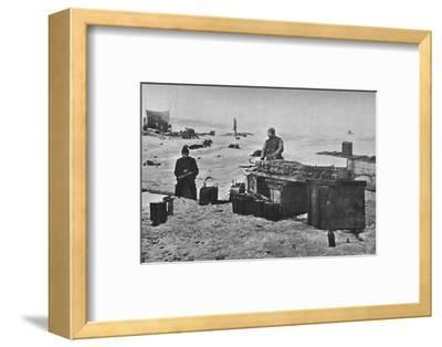 'Cleaning the Accumulators Before Stowing Away. July, 1895', (1897)-Unknown-Framed Photographic Print