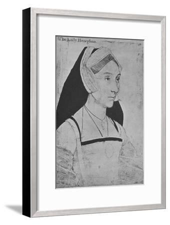 'Mary, Lady Heveningham', c1532-1543 (1945)-Hans Holbein the Younger-Framed Giclee Print