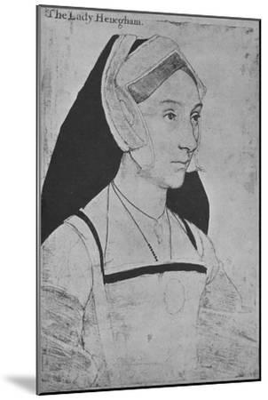 'Mary, Lady Heveningham', c1532-1543 (1945)-Hans Holbein the Younger-Mounted Giclee Print