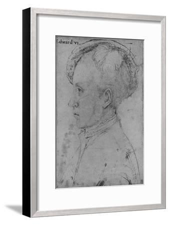 'Edward, Prince of Wales (Not by Holbein)', c1550-1599, (1945)-Unknown-Framed Giclee Print