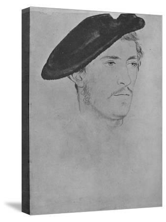 'A Gentleman: Unknown (Not by Holbein)', c16th century, (1945)-Unknown-Stretched Canvas Print