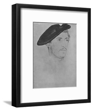 'A Gentleman: Unknown (Not by Holbein)', c16th century, (1945)-Unknown-Framed Giclee Print
