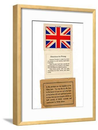 'Union Jack car transfers', c1960s-Unknown-Framed Giclee Print