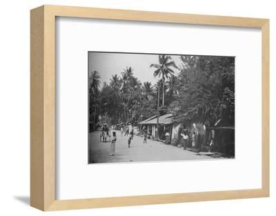 'Roadside Scene on the Way to Mt. Lavinia', c1890, (1910)-Alfred William Amandus Plate-Framed Photographic Print
