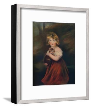 'Elizabeth Jane Hinchcliffe', 1805, (1922)-John James Masquerier-Framed Giclee Print