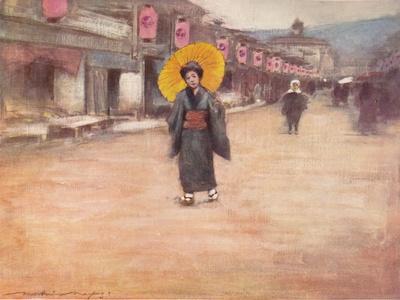 'A Street in Kioto', c1887, (1901)-Mortimer L Menpes-Framed Giclee Print