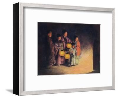 'By the Light of the Lantern', c1887, (1901)-Mortimer L Menpes-Framed Giclee Print
