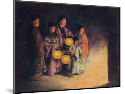 'By the Light of the Lantern', c1887, (1901)-Mortimer L Menpes-Mounted Giclee Print