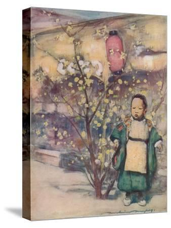 'A Little Japanese Boy', c1887, (1901)-Mortimer L Menpes-Stretched Canvas Print