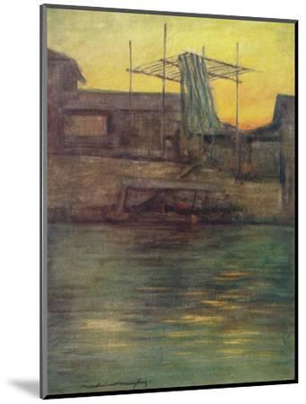 'A Back Canal, Osaka', c1887, (1901)-Mortimer L Menpes-Mounted Giclee Print