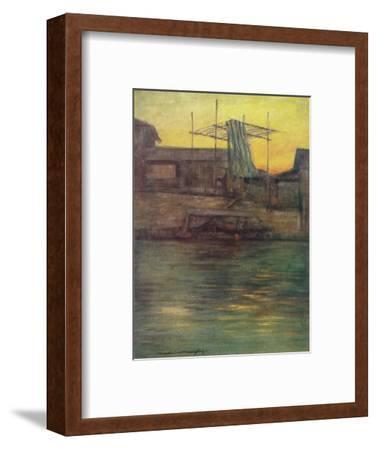 'A Back Canal, Osaka', c1887, (1901)-Mortimer L Menpes-Framed Giclee Print
