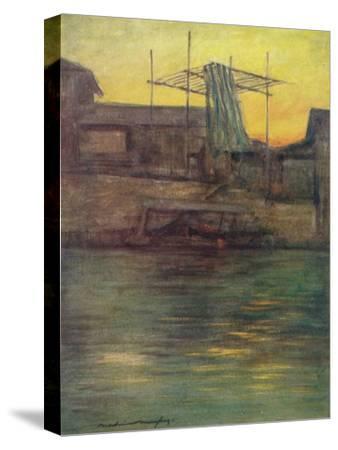 'A Back Canal, Osaka', c1887, (1901)-Mortimer L Menpes-Stretched Canvas Print