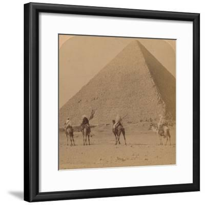 'Cheops, the Greatest of the Pyramids, Egypt', 1896-Unknown-Framed Photographic Print