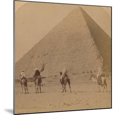'Cheops, the Greatest of the Pyramids, Egypt', 1896-Unknown-Mounted Photographic Print