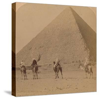 'Cheops, the Greatest of the Pyramids, Egypt', 1896-Unknown-Stretched Canvas Print