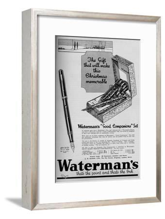 'Waterman's Good Companions Set', 1934, (1934)-Unknown-Framed Giclee Print